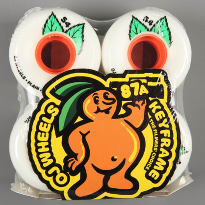 OJ 'Plain Jane Keyframe' 54mm 87a Wheels (White)