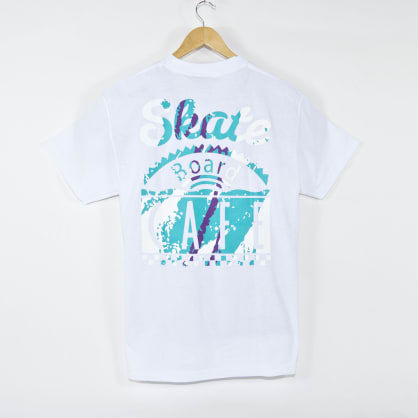 SKATEBOARD CAFE CUP TEE - WHITE