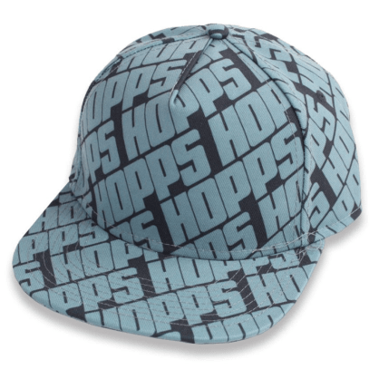 HOPPS - ALL-OVER STRAPBACK CAP BLACK/BLUE