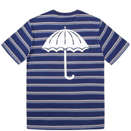 Hélas Stripy Umbrella T-Shirt - Navy