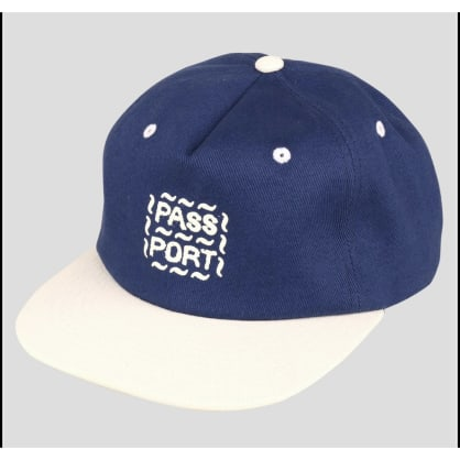 Pass-Port - Messy Logo 6 Panel (French Navy/Natural)
