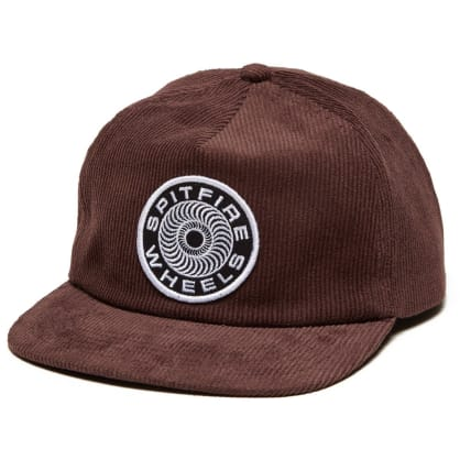 Spitfire Classic Swirl Corduroy Snapback Hat Brown