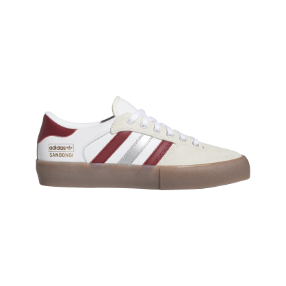 Adidas Matchbreak Super Shin Sanbongi Skateboarding Shoes - FTWR White / Collegiate Burgundy / Gum 4