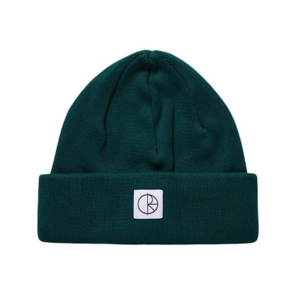 Polar Skate Co Double Fold Cotton Beanie - Dark Green