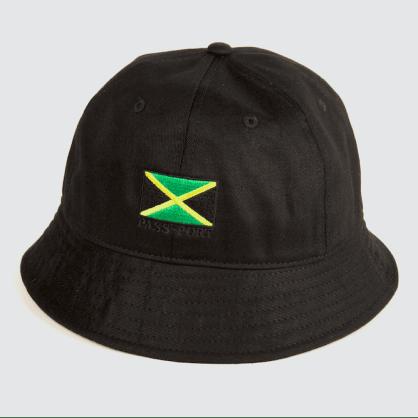 Passport Skateboards - Jamaica Twill Bucket Hat (Black)