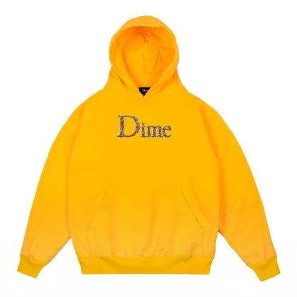 Dime Scribble Classic Logo Hoodie - Yellow