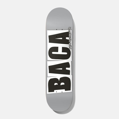 Baker Skateboards Baca Logo Grey Skateboard Deck - 8.5""