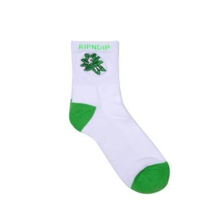 Rip N Dip - Tucked In Socks - White / Green