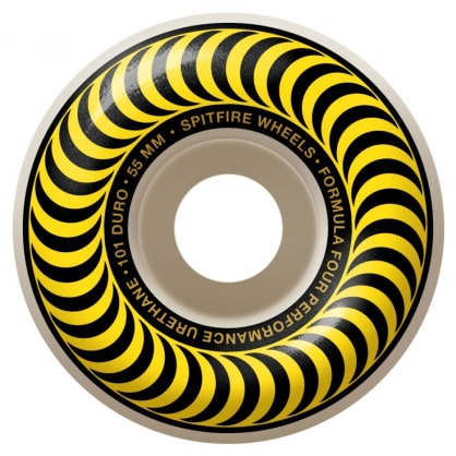Spitfire Wheels - Spitfire Formula Four Classic 99 Yellow Skateboard Wheels | 55mm