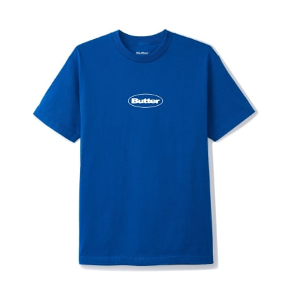 Butter Goods Puff Badge Logo T-Shirt - Royal Blue