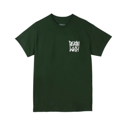 Deathwish Skateboards The Truth T-Shirt - Forest Green/White
