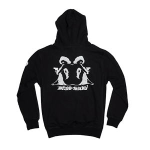 Fucking Awesome Hearts Hoodie - Black