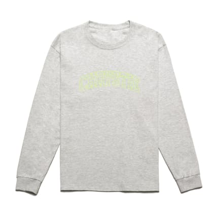 Chrystie NYC - Collegiate Logo Long Sleeve Shirt / Ash Grey