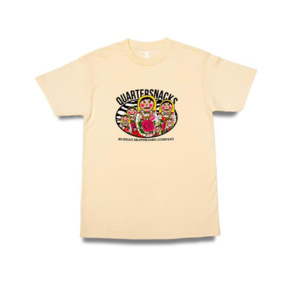 Quartersnacks Russia T-Shirt - Cream