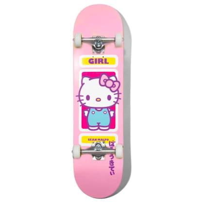 "Girl Skateboards - Sean Malto Hello Kitty Complete Skateboard 7.75"" Wide"