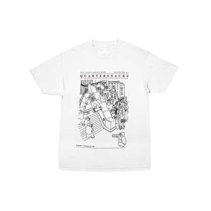 Quartersnacks - Presented By.. Tee - White
