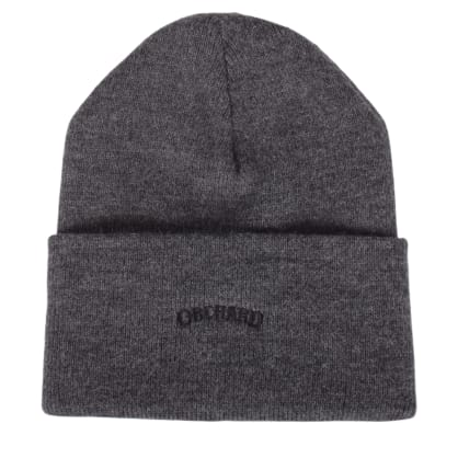 Orchard Text Logo Cuff Beanie Charcoal/Black