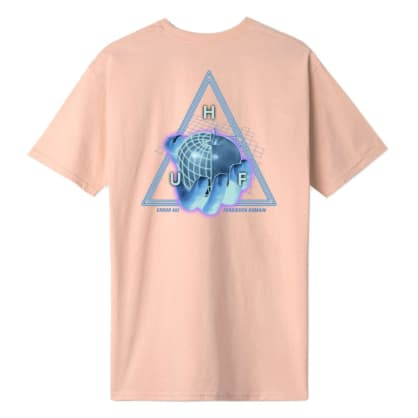 HUF Forbidden Domain Tee Coral Pink