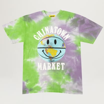 Chinatown Market Smiley Globe Ball Tee (Tie Dye)