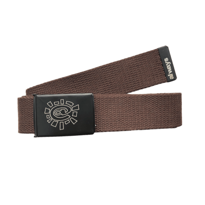 always do what you should do - brown canvas belt