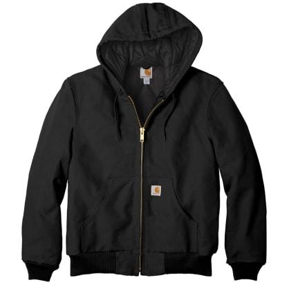 Carhartt Quilt Lined Duck Active Jacket - Black