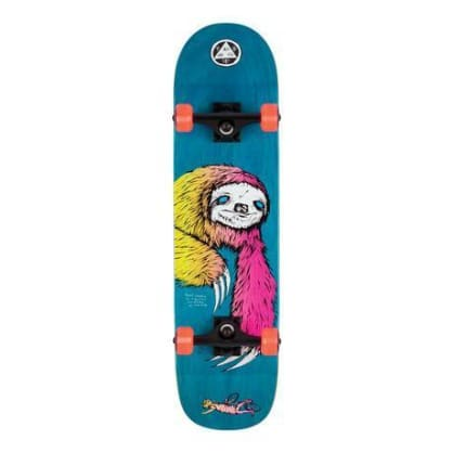 "Welcome Skateboards - 8.0"" Sloth on Bunyip Complete Skateboard - Blue / Surf Fade"