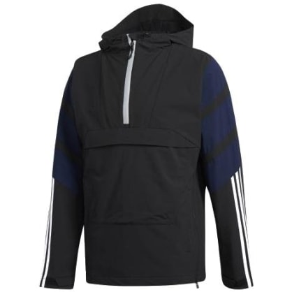 adidas 3 Stripe Jacket - Black / White / Navy