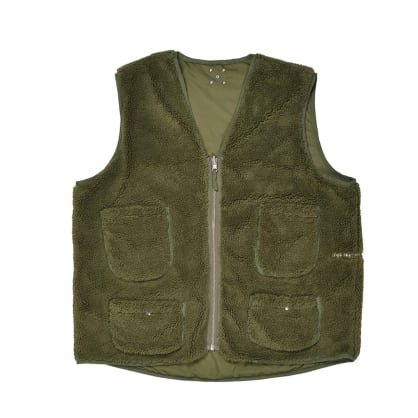 Pop Trading Company - Reversible Vest - Hunting Green