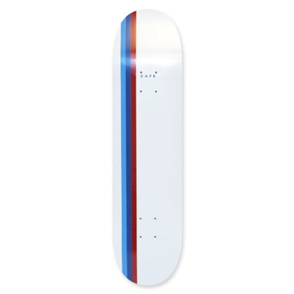 Skateboard Cafe Stripe Deck (White/Blue/Navy/Red) 8.25""