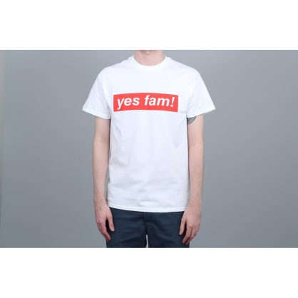 Yes Fam! Logo T-Shirt - White / Red