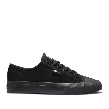 DC Manual S Suede Skate Shoes - Black