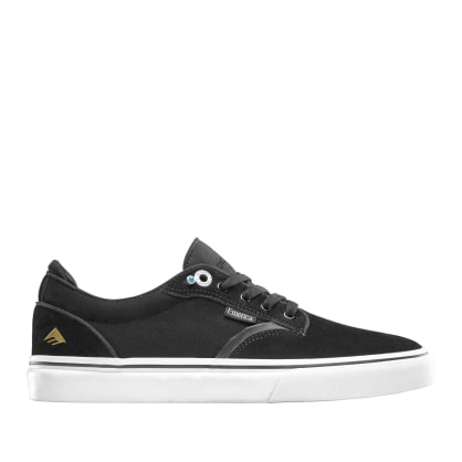 Emerica Dickson Skate Shoes - Black / White / Gold
