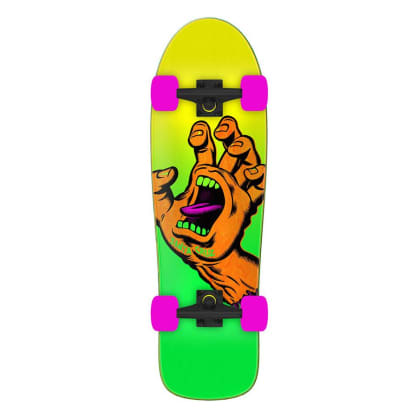 SANTA CRUZ Missing Hand Shaped Cruiser Skateboard
