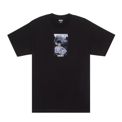 Hockey Lamb Girl T-Shirt - Black