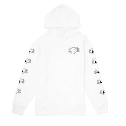 Fucking Awesome Box Wings Hooded Sweatshirt - White