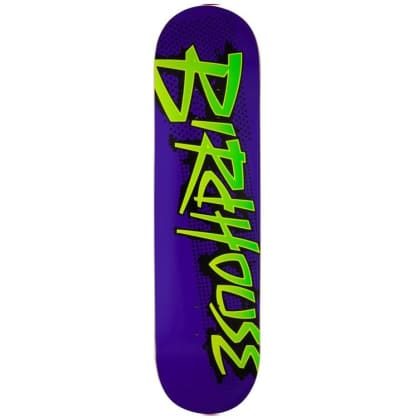 Birdhouse Splatter Logo Purple Skateboard Deck - 8.125