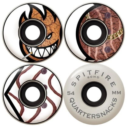 Spitfire x Quartersnacks Skateboard Cruiser Wheels 80HD - 54mm