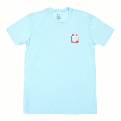 WKND Logo T-Shirt - Light Blue- Red