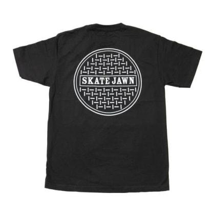 SKATE JAWN SEWER CAP TEE - BLACK