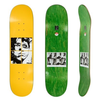 Polar Skate Co Dane Brady Out Of Service Yellow Skateboard Deck - 8""