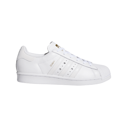 adidas Superstar ADV x Duran Skate Shoe - Cloud White / Cloud White / Cloud White
