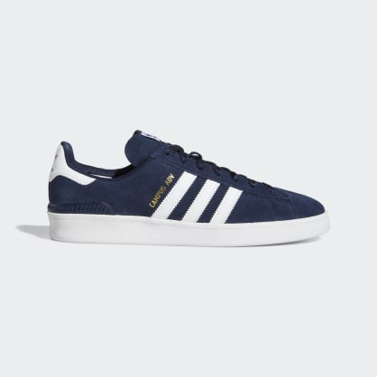 Adidas Campus ADV Shoes - Collegiate Navy/Cloud White/Cloud White