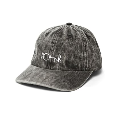 Polar Skate Co. Denim Cap - Black Acid