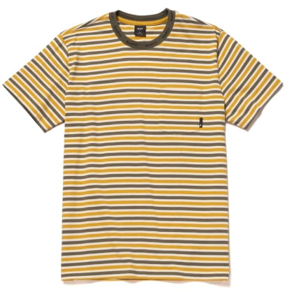 Huf - Alex Stripe S/S T Shirt - Golden Spice