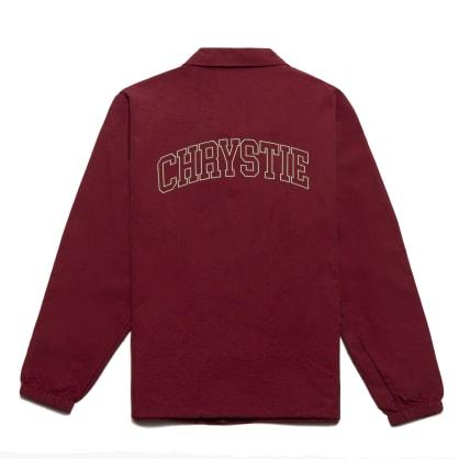 Chrystie NYC - Collegiate Logo Coach Jacket_Burgundy