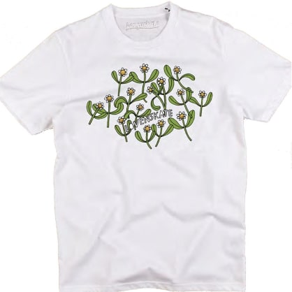 Lovenskate Flower Power by Liisa Chisholm Tee - White