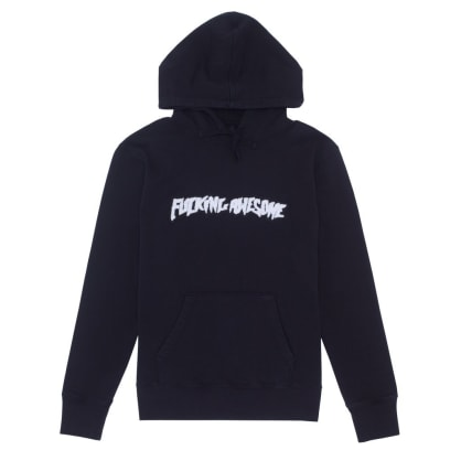 Fucking Awesome Garment Dyed Chenille Logo Hoodie - Anthracite