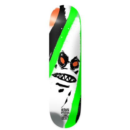 """Heroin Skateboards - 9.0"""" Craig Questions Call Of The Wild Skateboard Deck"""