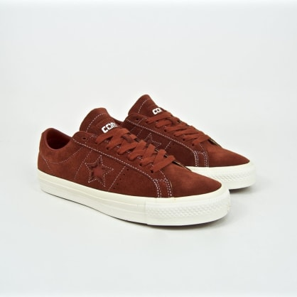 Converse Cons - One Star Pro OX (Workwear) Shoes - Cinnamon / Egret / White