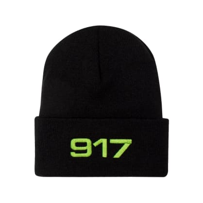 Call Me 917 Racing Beanie - Black/Safety Green